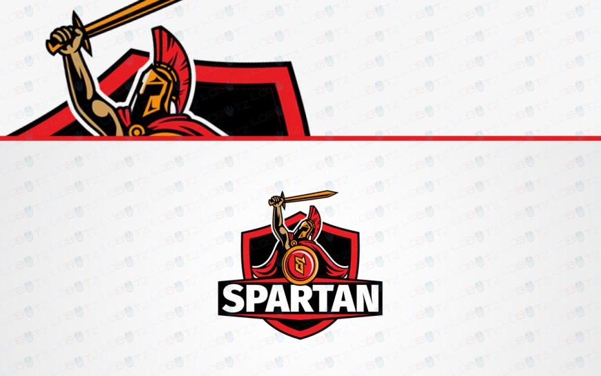 spartan mascot logo for sale