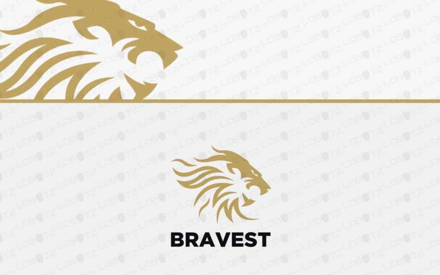 lion logo for sale premade