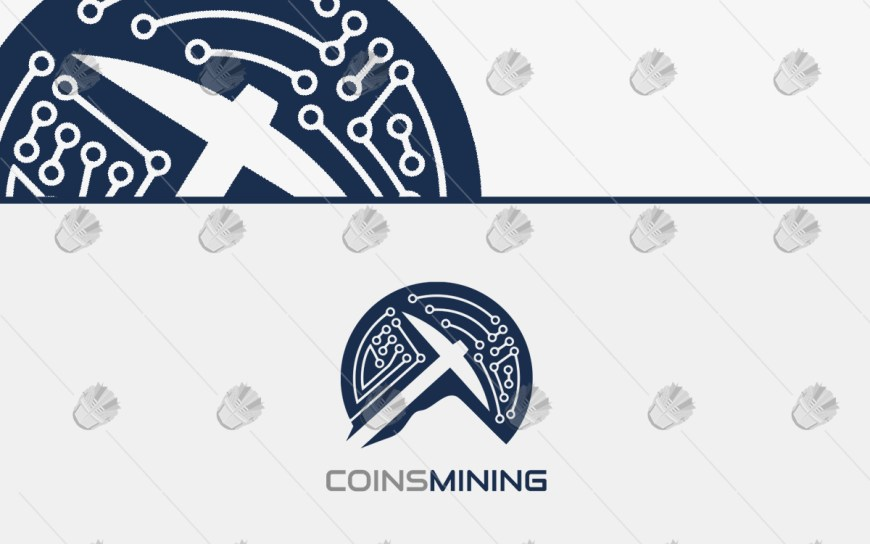 digital coin mining logo for sale