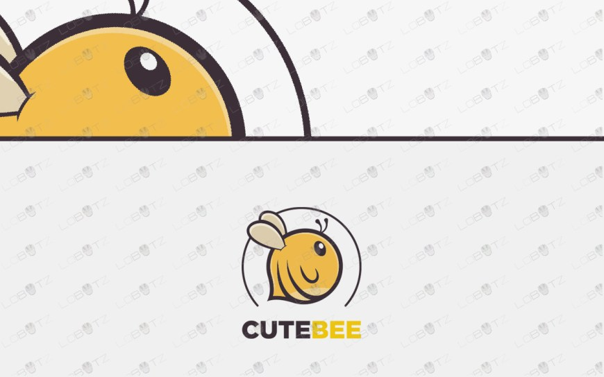 cute bee logo for sale