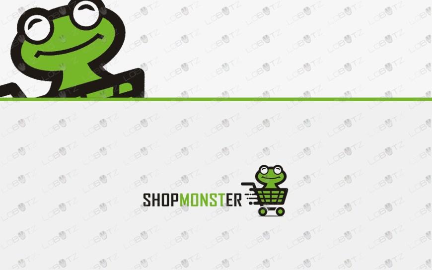 frog shopping logo