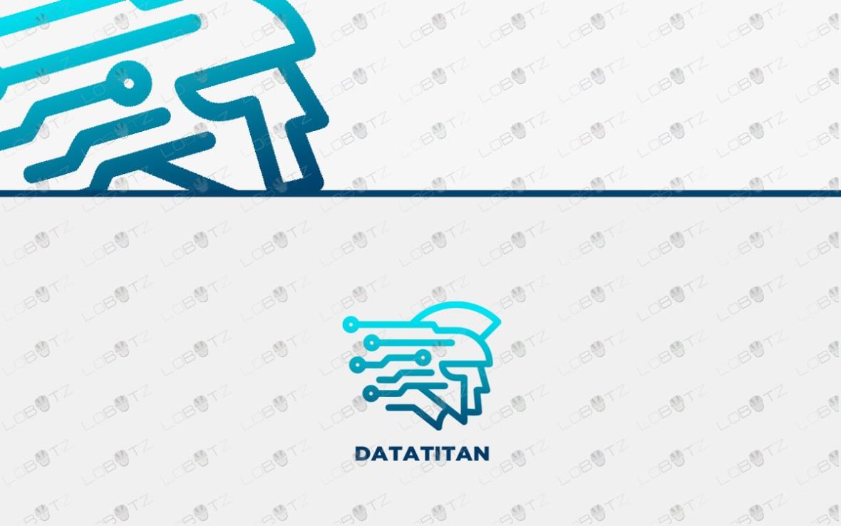 technology data titan logo for sale