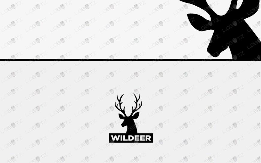 premade deer logo for sale