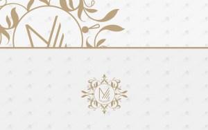 premade letter m floral logo for sale