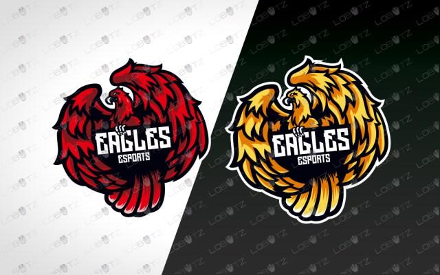 eagle mascot logo eagle esports logo