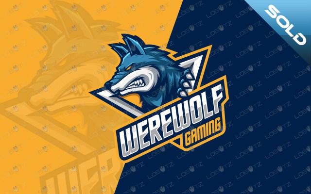werewolf mascot logo werewolf esports logo