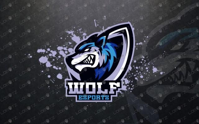 premade wolf mascot logo wolf esports logo