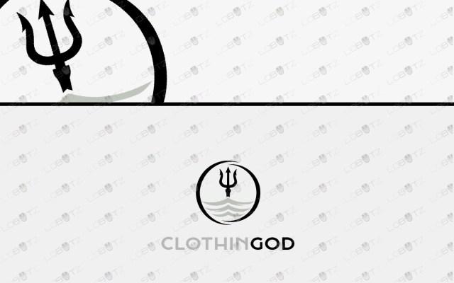 trident logo posiedon logo neptune logo clothing logo