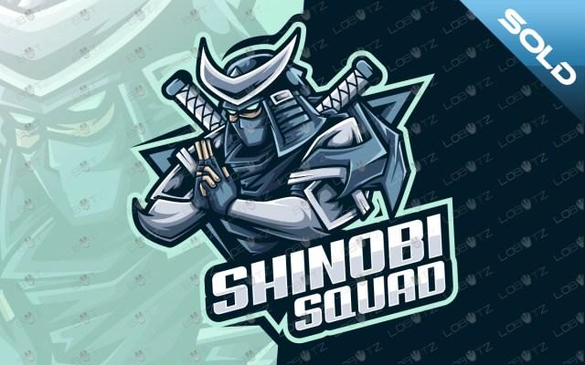 shinobi mascot logo shinobi esports logo ninja logo