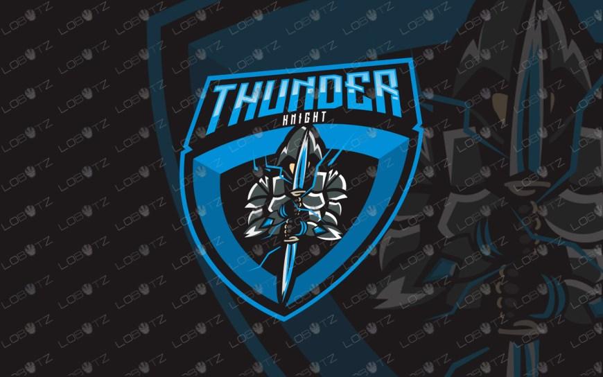 thunder knight mascot logo knight esports logo