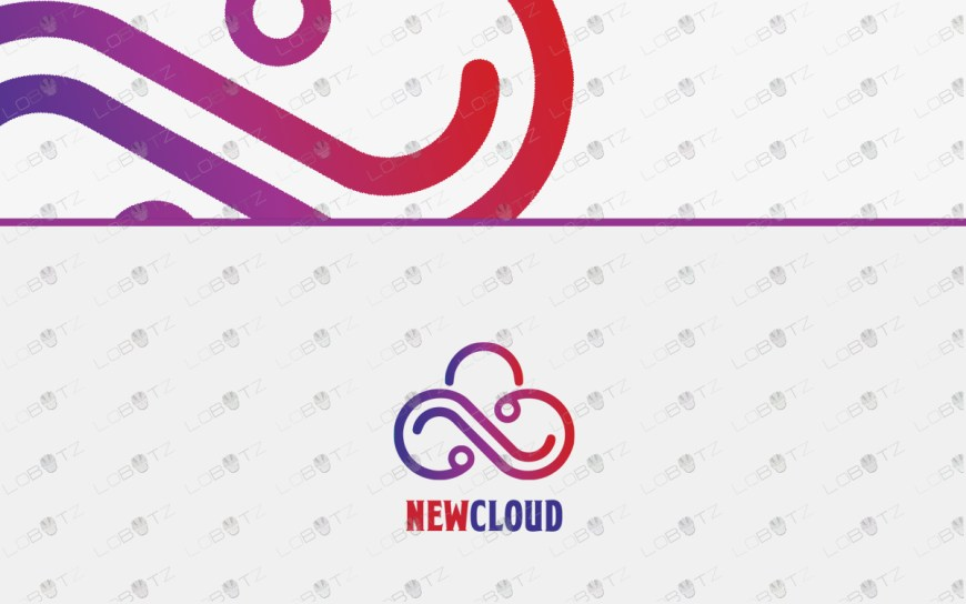 letter n storage cloud logo