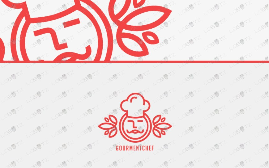 gourmet chef logo for sale