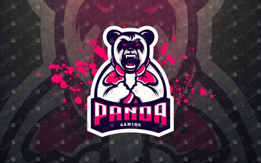 panda mascot logo gamerpandaesports log