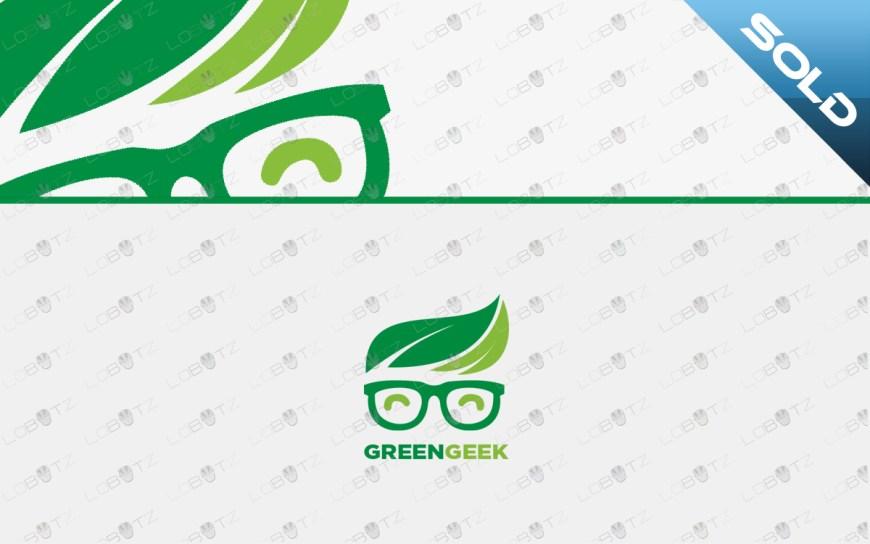 green geek logo nerd logo for sale