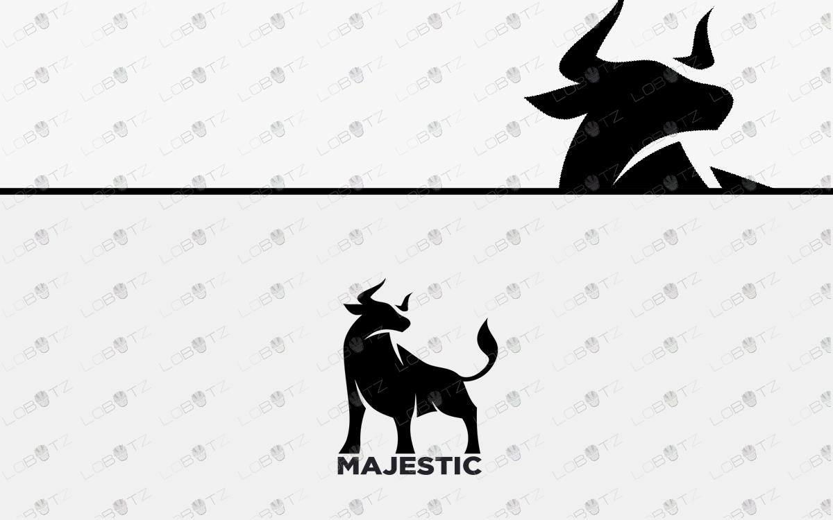 premade bull logo for