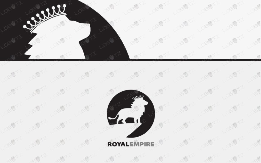 premade royal lion logo for sale