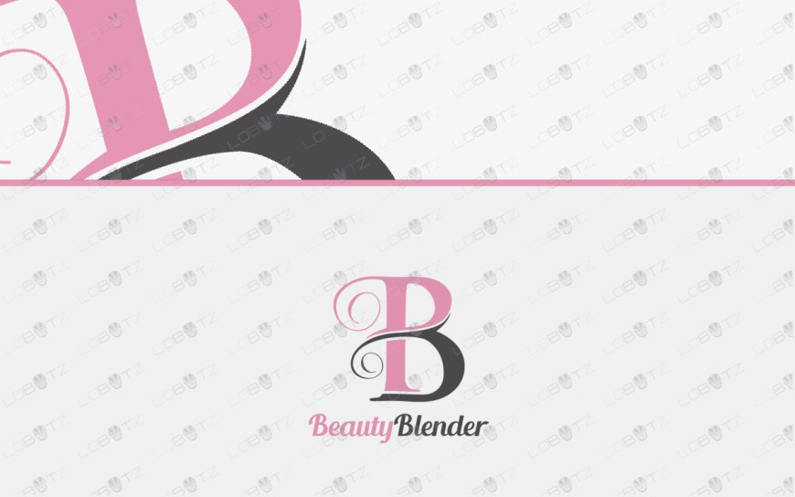 letter b beauty logo for sale