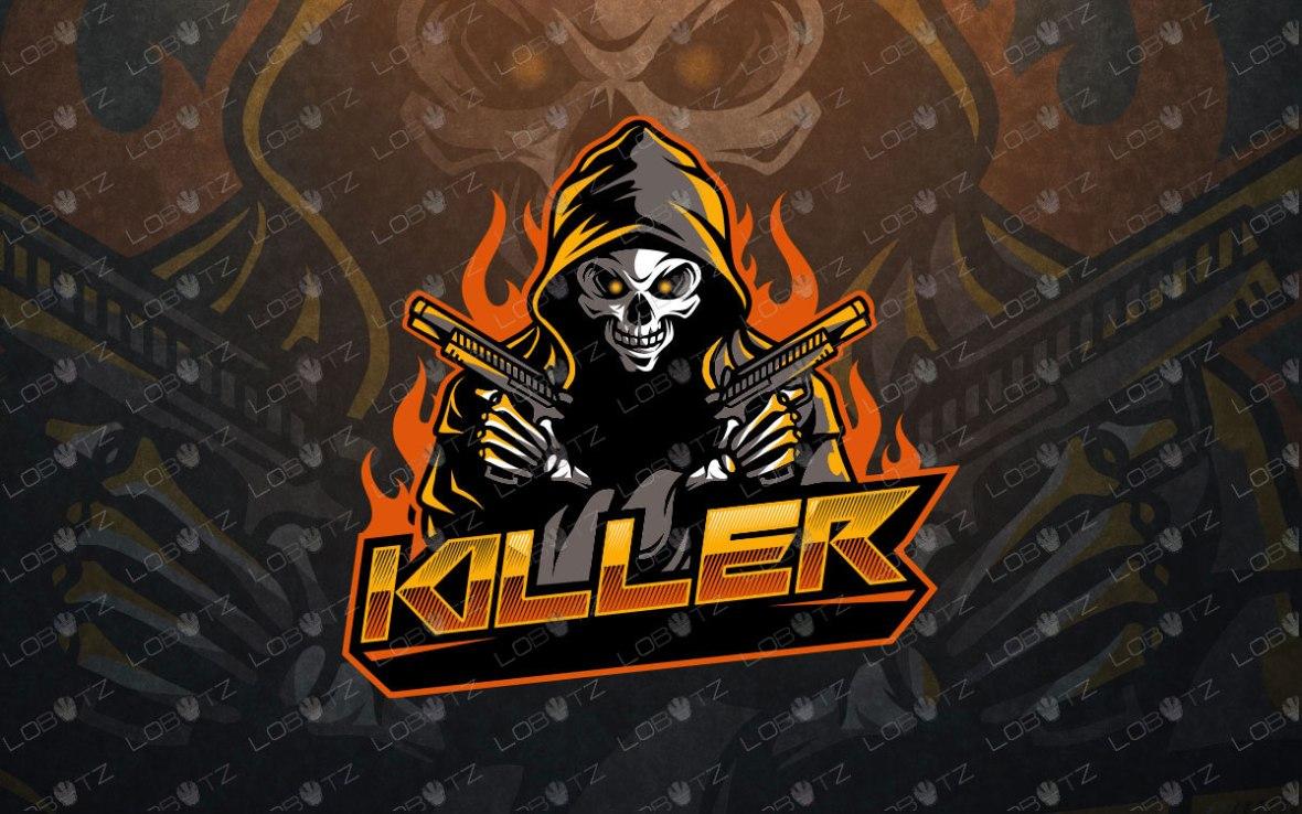 grim reaper esportslogo grim reaper mascot reaper with guns