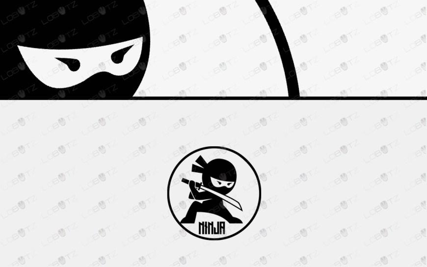 ninja logo for sale premade ninja logo