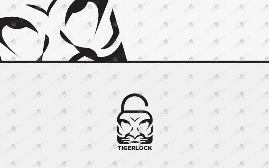 tiger lock logo tiger head logo for sale