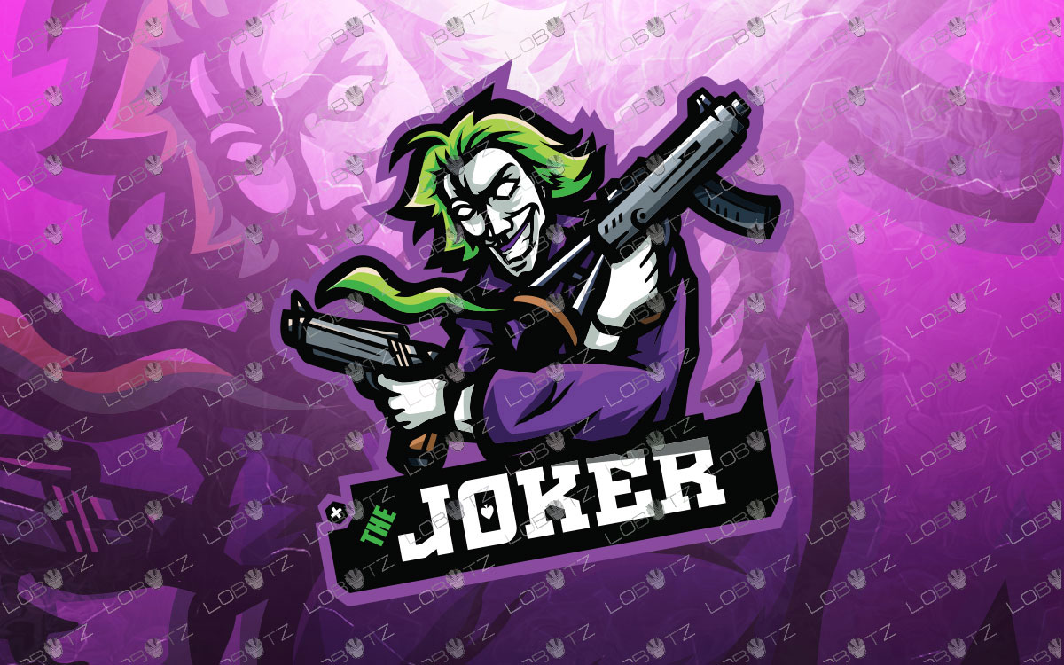 Joker Mascot Logo To Buy Online | Joker eSports Logo For