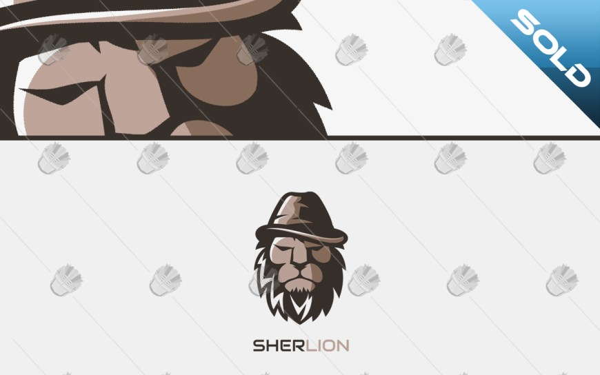 detective lion logo for sale
