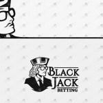 Blackjack Logo | Premade Blackjack Betting Logo For Sale