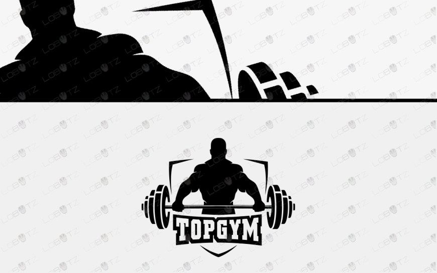 gym logo for sale premade BodyBuilding Logo