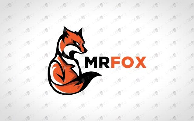 fox logo for sale mr fox logo premade logos