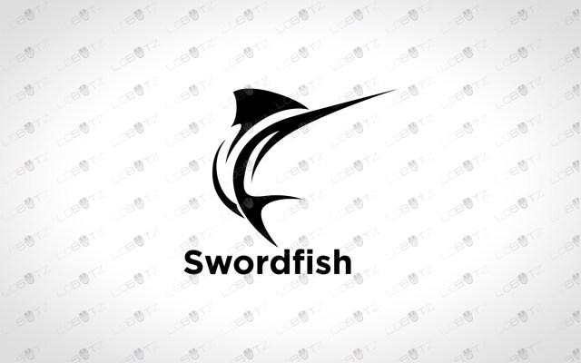 Fishing Logo For Sale Swordfish logo