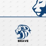 Majestic Lion Logo | Strong Lion Logo For Sale