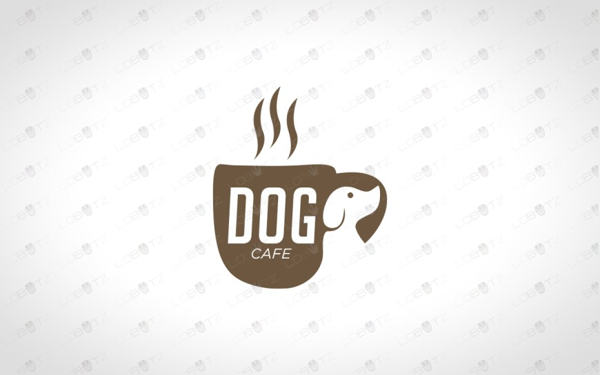 dog cafe logo for sale