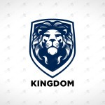 Lion Shield Logo | Royal Lion Head Logo For Sale