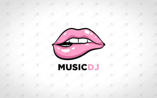 premade lips logo for sale music dj logo