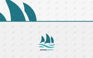 Sea ship logo water sports logo yacht logo
