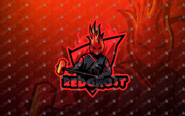 red ghost mascot logo red ghost esports logo