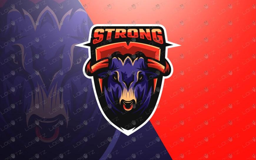 bull mascot logo for sale bull esports logo for sale
