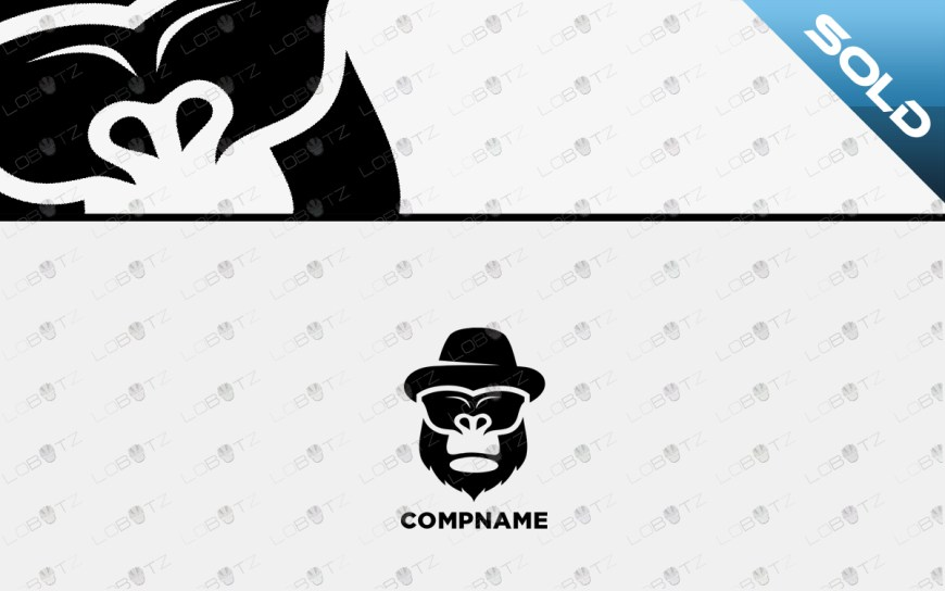 gorilla Logo For Sale gorilla head logo premade