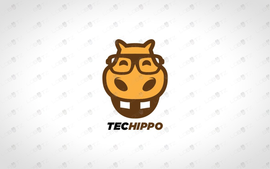 premade hippo logo for business for sale