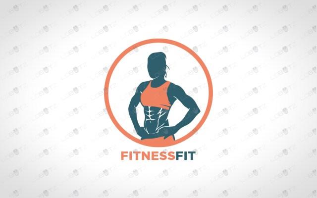 Fitness Logo For Sale female fitness logo premade logo