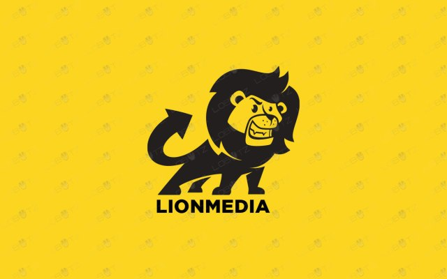 cartoon lion logo for sale premade logo