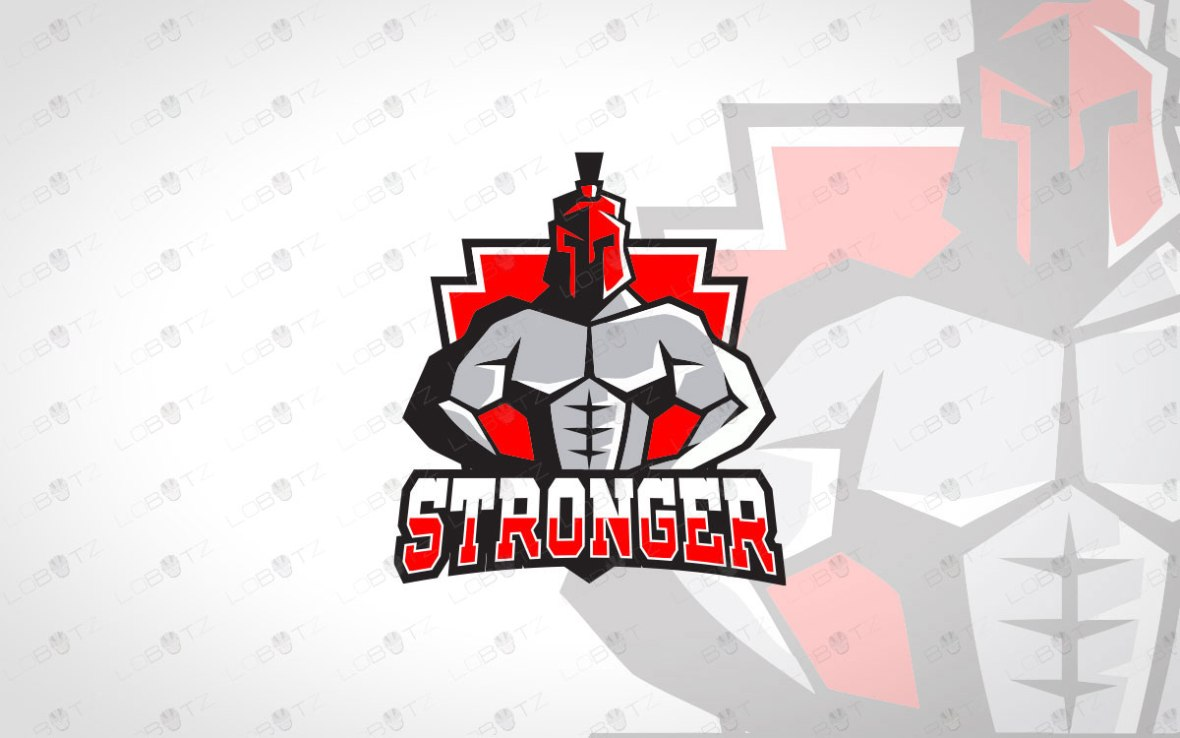 Spartan BodyBuilding Logo For Sale Premade Logo