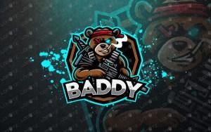Bear Mascot Logo Bear eSports Logo Bear Soldier Mascot Logo premade logos