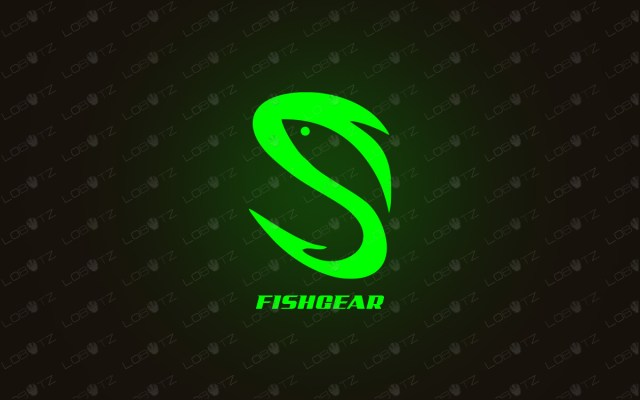 letter S logo for sale hook logo fishing logo