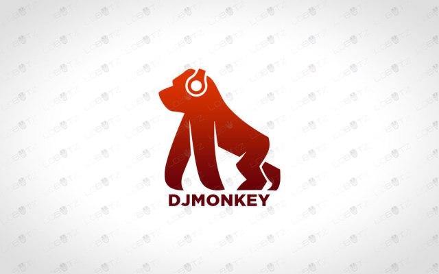 music logo music monkey logo for sale dj logo