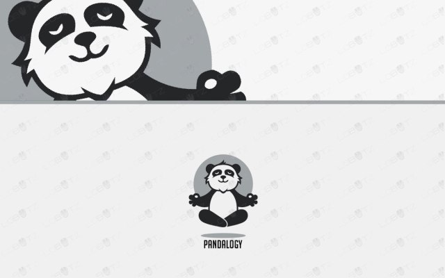 calm panda logo for sale panda yoga logo