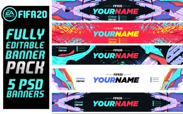 FIFA 20 Banner Pack Fifa 20 Fully Editable PSD Banners