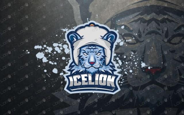 Ice Tiger Mascot Logo Tiger eSports Logo For Sale