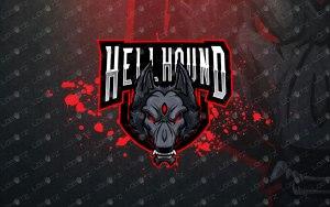 Hell Hound Mascot Logo For Sale | Hell Hound eSports Logo