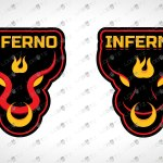 Inferno Logo For Sale   Inferno Mascot Logo For Sale